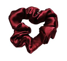 Scrunchies Burgundy Satin Ponytail Holder Free by ScrunchieKing