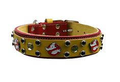 Ghostbuster Leather Dog Collar Custom by CaliGirlCollars on Etsy, $55.00. Pure awesomeness