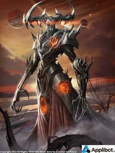 Artist: Concept Art House - Title: Hades, Ruler of the Planet of Darkness reg - Card: Del Zemira, SEED Spawn