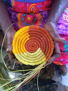 Basket Weaving in Gunbalanya, West Arnhem Land