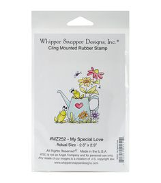 Whipper Snapper Designs Cling Stamp-My Special Love