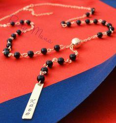 Y Drop Necklace Long Drop Necklace Lariat Necklace by PrettyMaNa