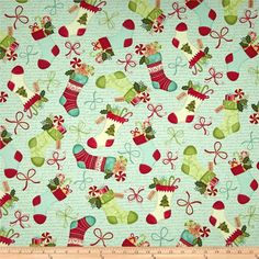 Home For The Holidays Stockings Aqua $7.82/y