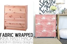 Ikea Rast Dresser Hack | Fabric Wrapped with Custom Ring Pulls and Acrylic Casters | sarah m. dorsey designs