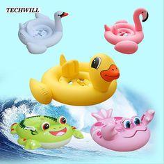 Inflatable Flamingo Frog Ring Kids Bathing Circle //Price: $13.26 & FREE Shipping //     #kidstoys