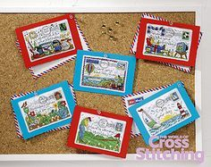 Happy Returns Birthday Postcards The World of Cross Stitching Issue 201 April 2013  Saved