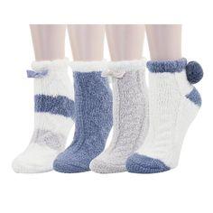 3 Pairs Kids Christmas Novelty Slipper Socks Cosy Winter Warm Bed Sock Xmax Gif