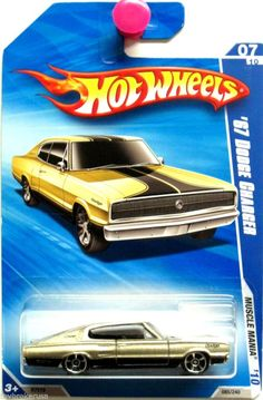 1967 Dodge Charger Hot Wheels 2010 Muscle Mania #07/10 Gold & Black  #HotWheels #Dodge
