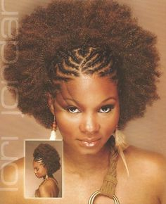 Afro Puff With Braids Check Out More Natural Beautiful