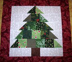 table runner for Christmas     Christmas Tree Quilt