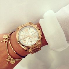 pinterest: meglucyx ✨ http://www.thesterlingsilver.com/product/michael-kors-mini-bradshaw-womens-quartz-watch-with-pink-dial-and-rose-gold-stainless-steel-bracelet-mk5799/