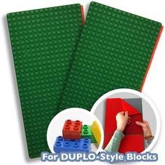 Peel And Stick LEGO® DUPLO® Compatible Baseplates