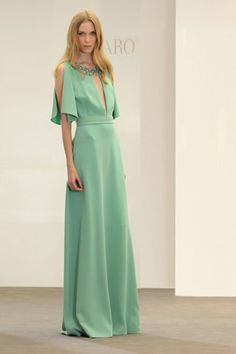 Azzaro Dress  - Green Hemlock Color