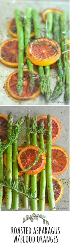 Citrus adds a wonderful bright flavor to roasted asparagus.