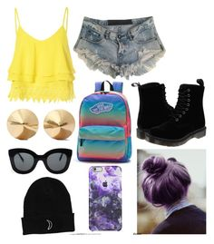 """""""cant wait for summer"""" by iimorganii on Polyvore featuring Glamorous, One Teaspoon, Dr. Martens, Vans, Eddie Borgo, CÉLINE, women's clothing, women, female and woman"""