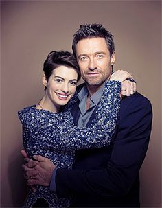 Les Misérables' Golden Globe Award winners Anne Hathaway (Best Supporting Actress) and Hugh Jackman (Best Actor).