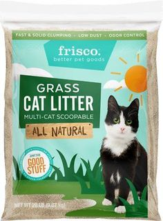 Frisco All Natural Grass Clumping Cat Litter (Chewy) Natural Cat Litter, Clumping Cat Litter, Cat Pee, Litter Box, Cool Cats, Biodegradable Products, Grass, Alternative, Dyes