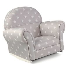 Kids' Rocking Chairs - KidKraft Upholstered Rocker with Slip Cover Toy Gray with White Polka Dots *** Continue to the product at the image link.