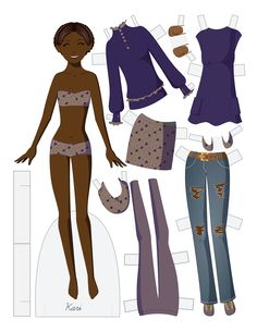 Paper Doll School: Fashion Friday - Kari * 1500 free paper dolls at Arielle Gabriels The International Paper Doll Society also free Asian paper dolls at The China Adventures of Arielle Gabriel *
