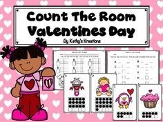 Count The Room Valentines This Valentine Theme Count The Room contains 10 pictures with ten frames 110 and the same pictures for 11-20. There are 3 recording sheets. The first recording sheet has a place to record the number counted on the ten frame and a blank ten frame to color in what it looked like.