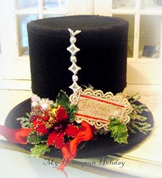 My Homespun Holiday: Christmas crafts I made Christmas Cube Decorations, Christmas Table Centerpieces, Christmas Swags, Christmas Hat, Christmas Crafts, Christmas Ornaments, Christmas Ideas, Coffee Can Crafts, Tin Can Crafts