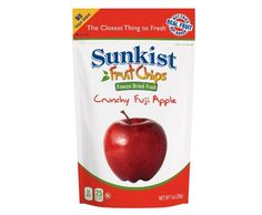 SUNKIST® CRUNCHY FUJI APPLE Fruit CHIPS (8 pack)Our #Sunkist Fruit Chips are not fried or baked, they are 100% pure fruit - The Closest Thing to Fresh! #SnackItForward