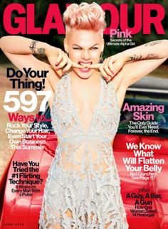 Pink on Glamour Magazine