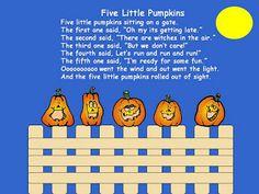 A Teacher's Touch: Five Little Pumpkins