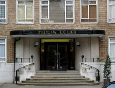 """Florin Court    Art deco apartment block, external shots used as the fictional home of Hercule Poirot """"Whitehaven Mansions"""" in the TV series from the 1980's."""