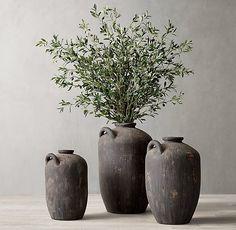 Olive Branch Arrangement & C. Wabi Sabi, Vase With Branches, Olive Branches, Tree Branches, Restauration Hardware, Olive Jar, Deco Restaurant, Branch Decor, Modern Shop