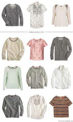 holiday fashion :: embellished tops