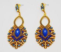BOHEMIAN EARRINGS - BLUE | UNA BELLO