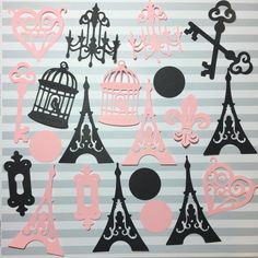 París tema partido recortes  París Paris Party Decor  Paris by KDODesigns | Etsy