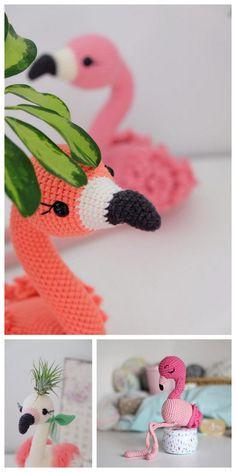 Amigurumi Flamingo Free Pattern - Amigurumi Daily Crochet Flamingo, Crochet Elephant Pattern, Crochet Patterns Amigurumi, Free Crochet, Crochet Summer, Crochet Ideas, Crochet Animals, Handicraft, Free Pattern