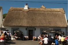 Moran's Oyster Cottage, outside of Galway, where the road leading up to the restaurant is lined with empty shells.