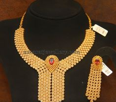 Jewellery Designs: Fancy Choker by MBG