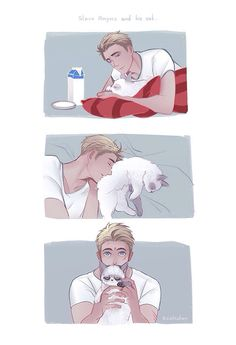 Steve and his cat