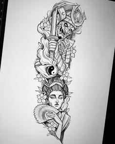 Half Sleeve Tattoos Drawings, Half Sleeve Tattoos For Guys, Half Sleeve Tattoos Designs, Arm Sleeve Tattoos, Half Sleeve Tattoo Stencils, Japanese Tattoos For Men, Japanese Tattoo Art, Japanese Tattoo Designs, Japanese Sleeve Tattoos