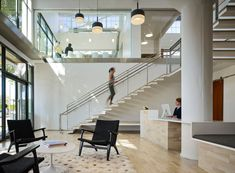 Office Stairs at Hanna Andersson located in Portland, Oregon.