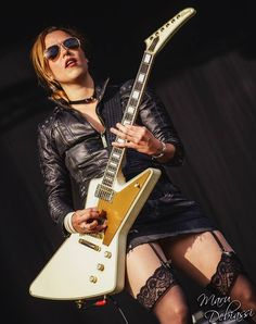 Say Hello to Something Scary: Photo Lzzy Hale, Rock And Roll Girl, Rock Roll, Heavy Metal Girl, Musician Photography, Women Of Rock, Rocker Chick, Guitar Girl, Halestorm