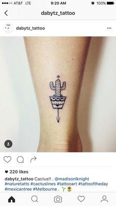 Cactus tattoo.