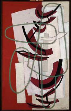 Sam Vanni: Ruber, 1954, öljy ja tempera kankaalle, 130 cm x 81 cm, Ateneumin…