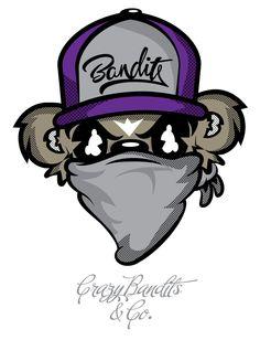 New Crazy Bandits & Co Tee by Jason Arroyo , via Behance