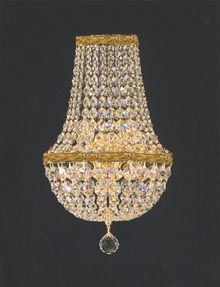 A81-4/5/WALLSCONCE Gallery Empire Style EMPIRE CRYSTAL WALL SCONCE