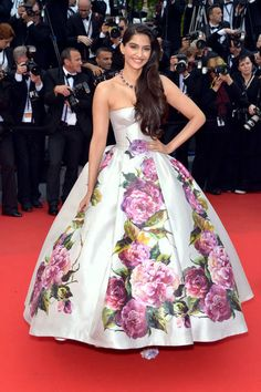 Sonam Kapoor in Dolce & Gabbana at the Cannes Film Festival 2013 Red Carpet