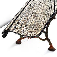Panchina in Merletto by Yukiko Nagai - Request more info at info@rossanaorlandi.com #rossanaorlandi #design #gallery #milano #italy #store #spazio #home #decor #unique #collection #milan #interior #unique #uniquepiece #exclusive #amazing #chairs #yukikonagai #mosaic #cement