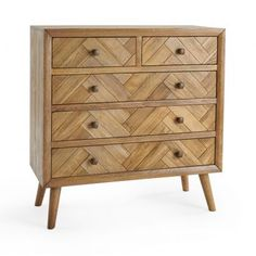 Brushed and Glazed Solid Oak Chest of Drawers - Chest of Drawers - Parquet Range - Oak Furnitureland Solid Oak Dining Table, Oak Dining Chairs, Fabric Dining Chairs, Dining Room, Oak Furniture Land, Funky Furniture, Furniture Design, Plywood Furniture, Chair Design