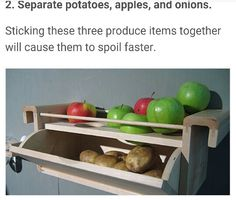 Don't store apples, potatoes & onions together