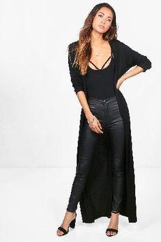 9e10d83b1d28 #boohoo Maxi Kimono - black DZZ50138 #Kitty Maxi Kimono - black