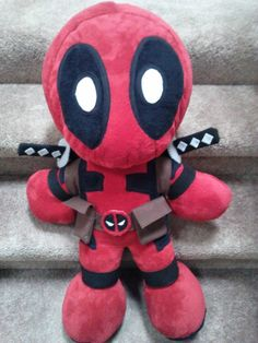"Deadpool Plushie V.2 ""Plushpool Zilla"" • Make a character plushie"